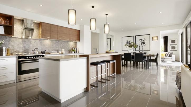 Dise o de cocina comedor moderno constructora paramount - Cocina diseno moderno ...