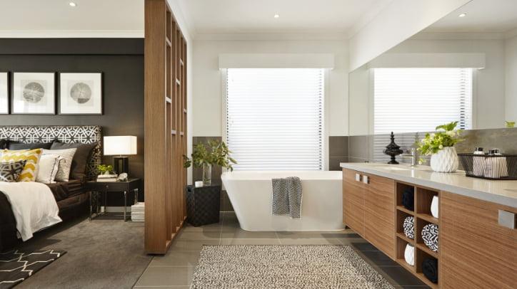 Diseño-de-cuarto-de-baño-de-dormitorio - Constructora Paramount