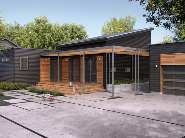 "Casa moderna forma de ""t""   constructora paramount empresa ..."