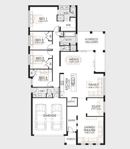 Plano de casa del modelo 03