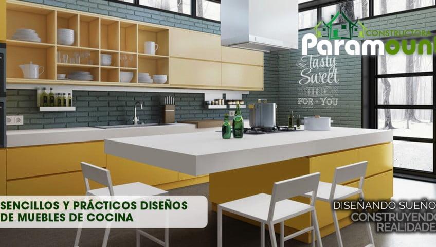 Sencillos y prácticos diseños de muebles de cocina   constructora ...