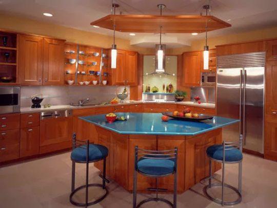 Diseño de Cocina con isla central