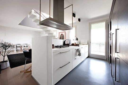 Diseño de Cocina con dos frentes paralelos