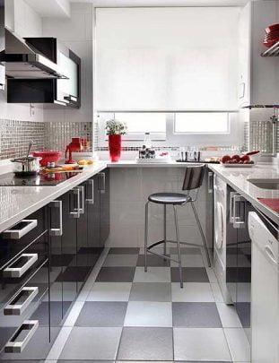 Diseño de Cocina en forma de U