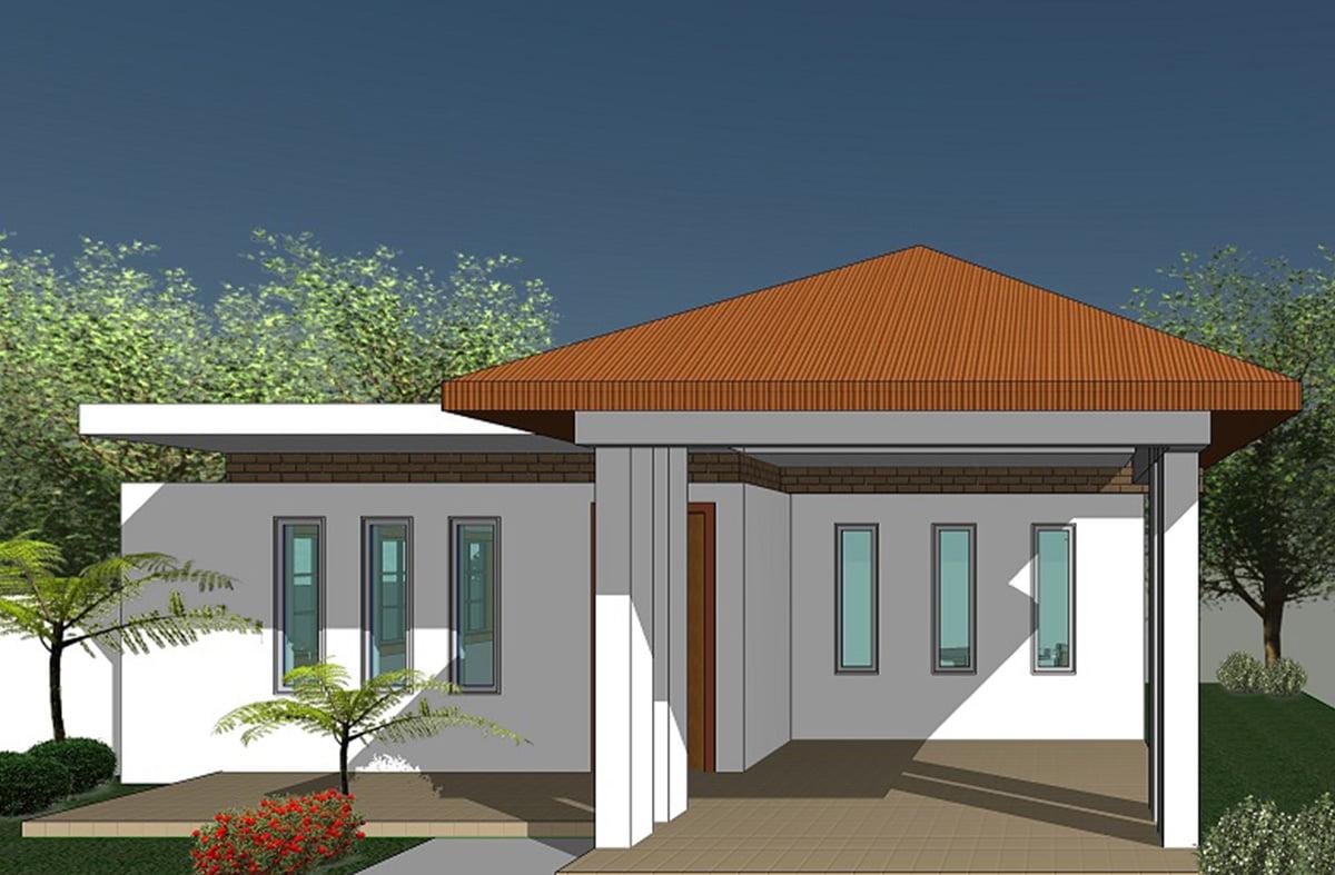 Famous casa pequena con techo de una sola agua for Disenos de casas 120 m2