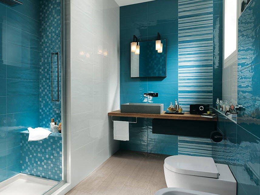 """Un """"refrescante"""" diseño de cuarto de baño color azul"""