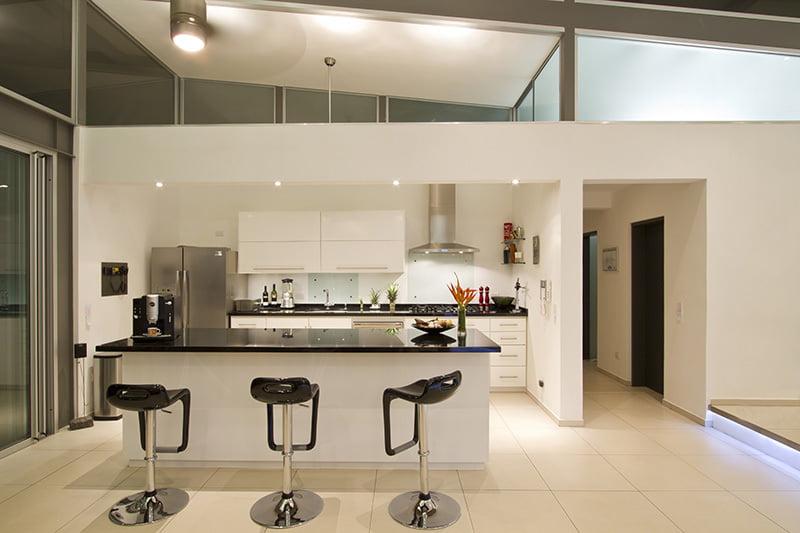 Diseño de la cocina con isla