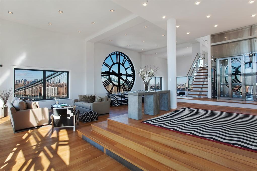 Diseño exclusivo de departamento, interior elegante y sobrio con la decoración