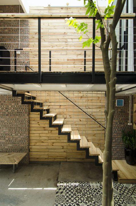 Vista del diseño de las escaleras