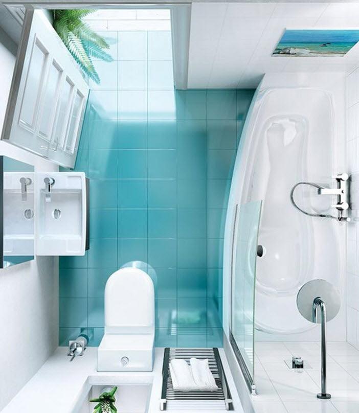 debido al espacio rectangular en el modelo n se ha optado por colocar una tina a lo largo y el lavabo e inodoro frente a la puerta de ingreso