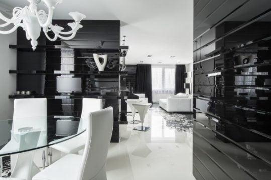 Diseño de moderno apartamento en color blanco y negro | Constructora Paramount