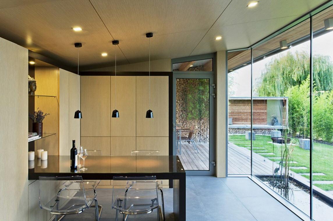 Diseño-de-cocina-comedor-de-cabaña - Constructora Paramount