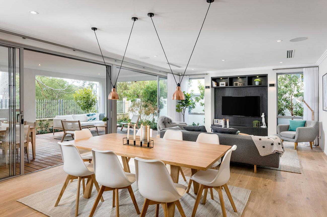 Vista completa de sala – comedor