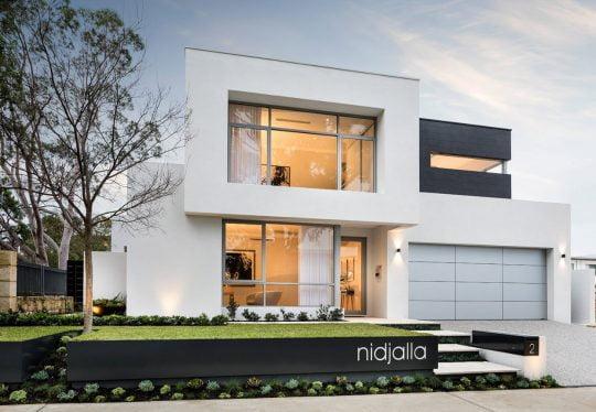 Fachada principal de la casa – Diseño y fotos: Webb & Brown-Neaves