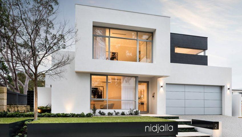 Casa moderna de dos niveles, lineas de diseño sencillas y elegantes