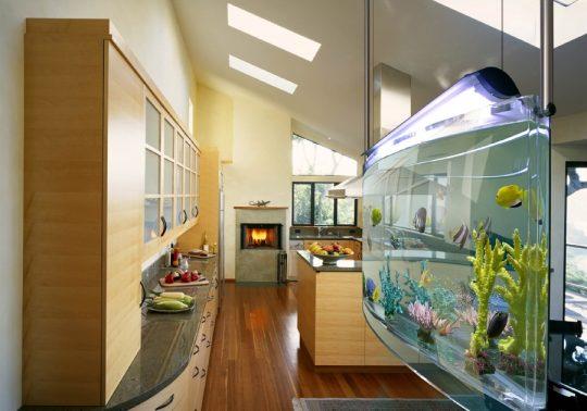 Las cocinas del futuro incluyen un acuario   Constructora Paramount
