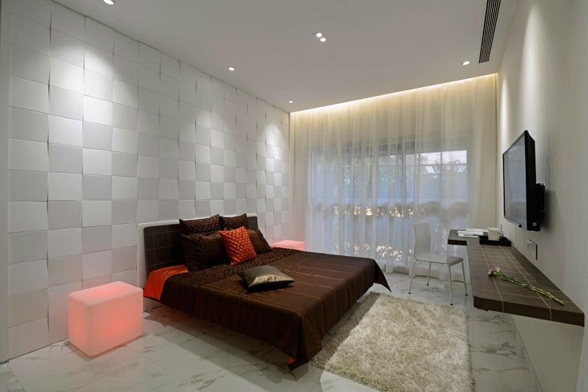 Moderno diseño de dormitorio
