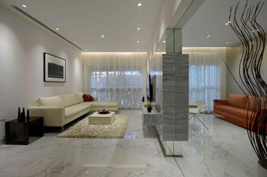 Diseño de la sala y el pequeño estudio
