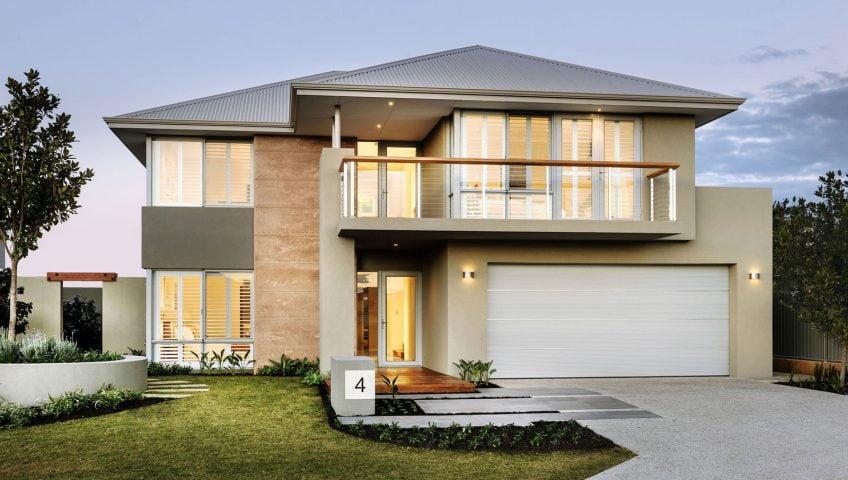 Casa moderna de dos pisos y hermoso diseño - Constructora Paramount