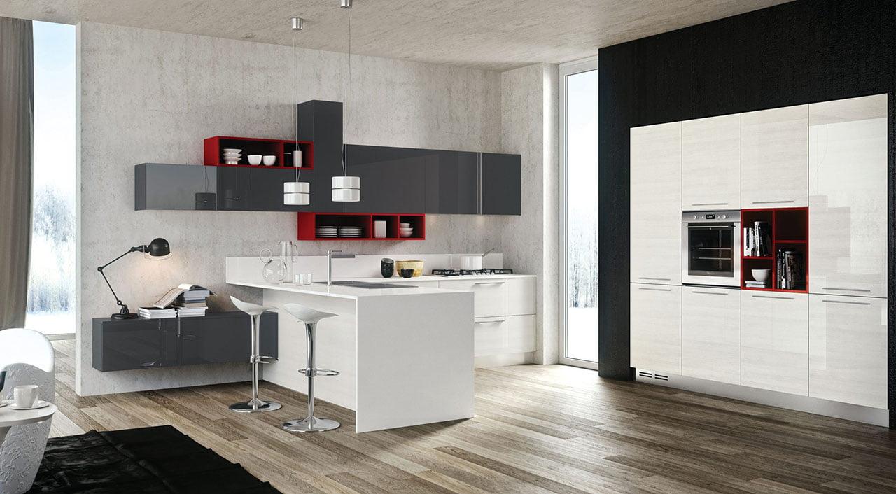Muchos diseñadores de interiores temen mucho usar el color negro, pero como vemos en la foto si se combinan bien las formas y tonos se consigue un diseño artístico