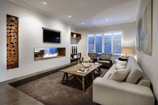 Diseño del estar de la casa