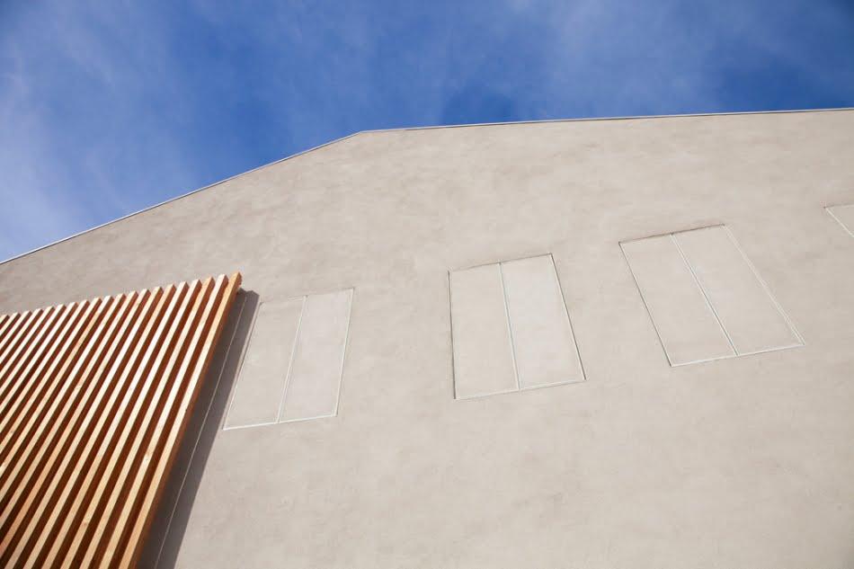 Diseño de pared de hormigón y madera