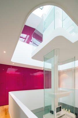 Diseño del eje central de la casa