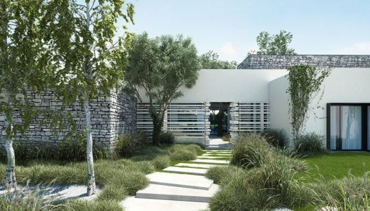 Diseño de la fachada principal de la casa (click para ampliar la foto)