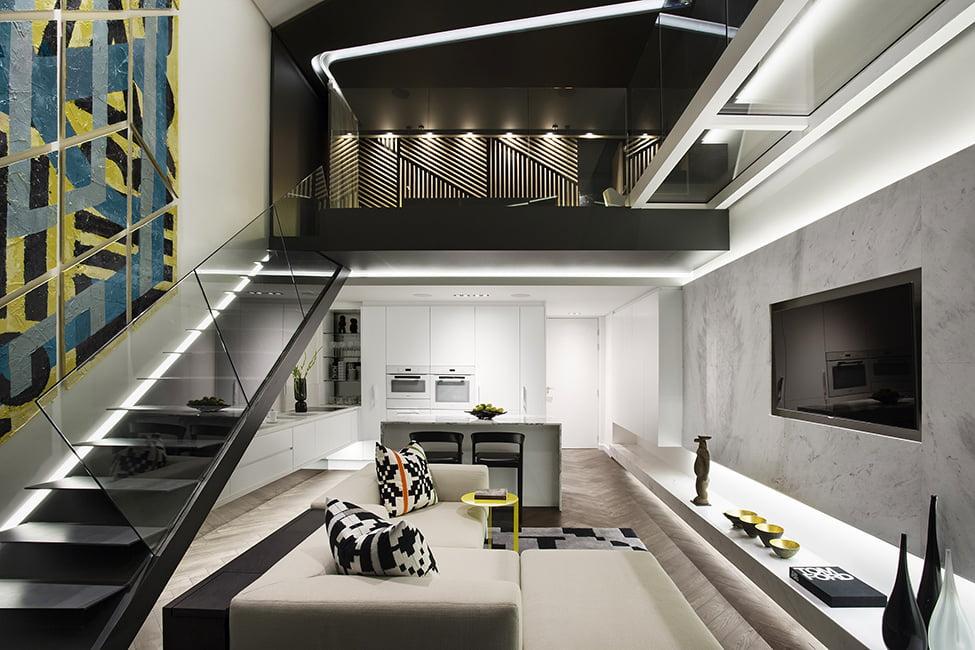 Diseño de minidepartamento interior de lujo | Constructora Paramount