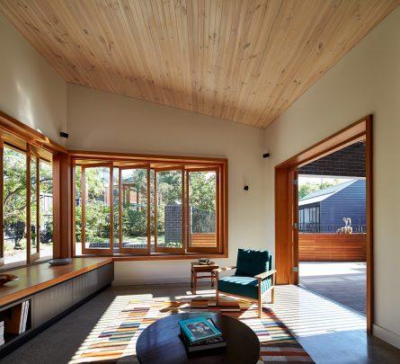 Diseño del estar en zona remodelada