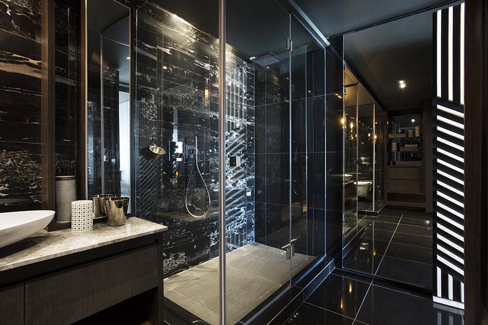 Diseño-de-cuarto-de-baño-de-minidepartamento-1 - Constructora Paramount