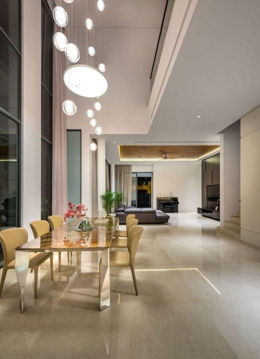 Diseño de sala comedor de estilo moderno