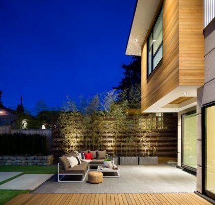 Diseño de la terraza ubicada en la parte posterior de la vivienda