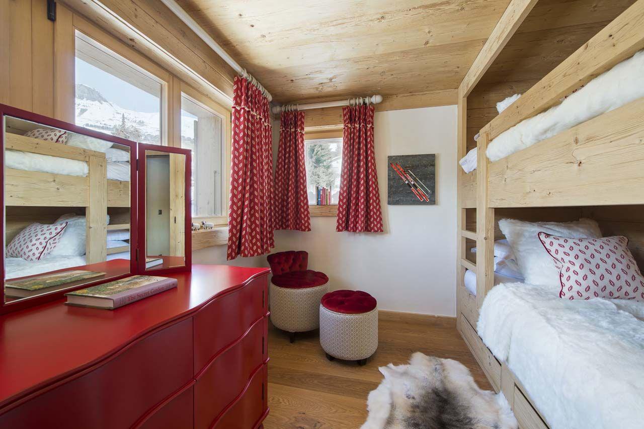 Diseño de dormitorio rústico para señoritas