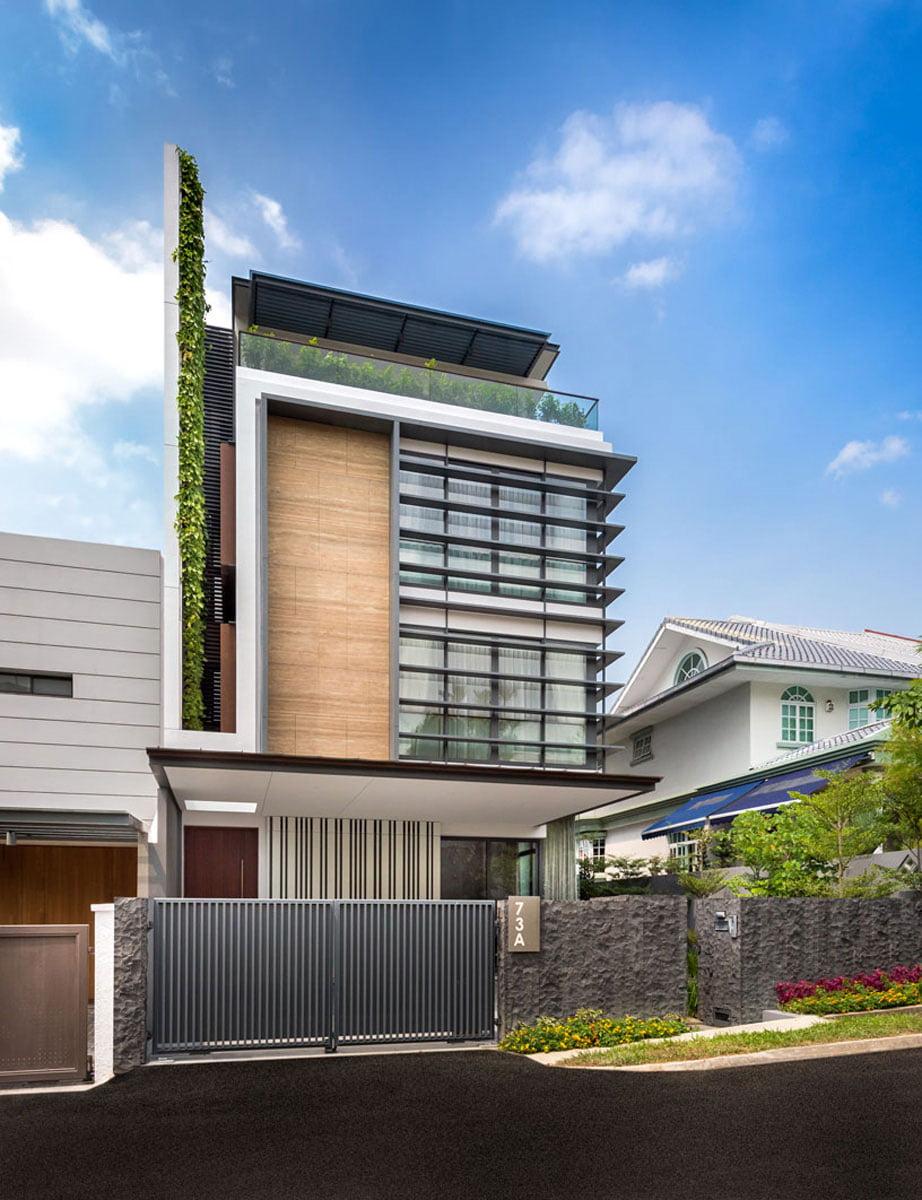 Diseo de Casa Moderna de 3 Pisos Constructora Paramount