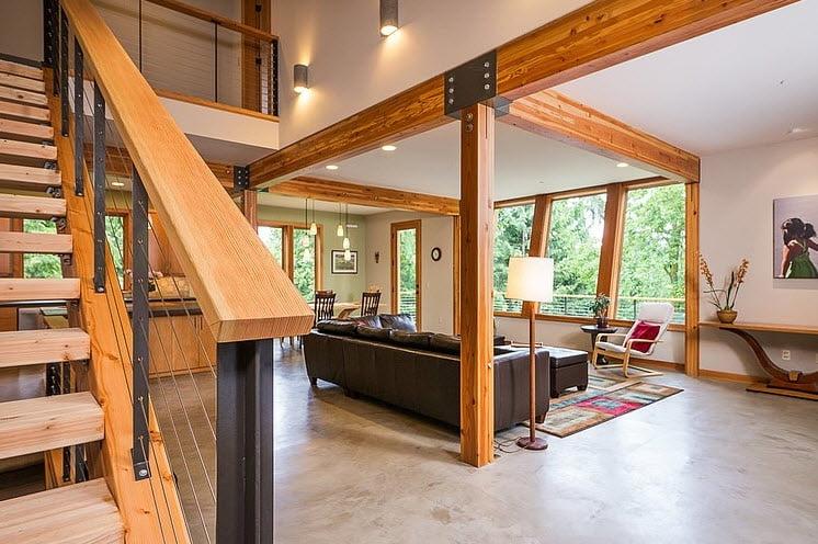 Diseño interior de la casa de montaña