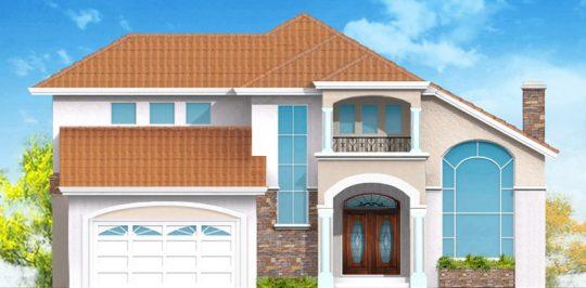 Esta casa mantiene un estilo clásico pero ha sido modernizada con ampliaciones y aberturas de ventanas agregándole a la fachada materiales como la piedra, el tejado color natural solo necesitó una nueva capa de pintura