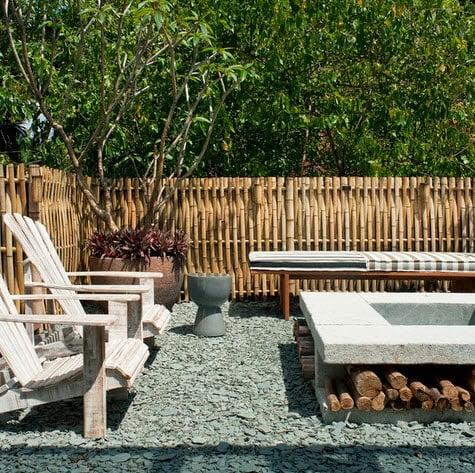 Diseño de cerco en bambú para espacio rústico como un BBQ (Fabiogaleazzo)