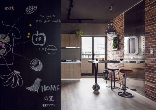 Diseño de la cocina estilo industrial