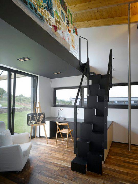 Diseño de escaleras ideal para departamentos pequeños (KYZLINK)