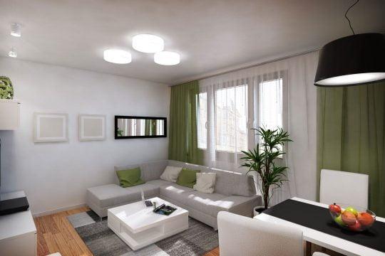 Sencilla y moderna decoración de la sala (Diseño y fotos: 110 Studio)