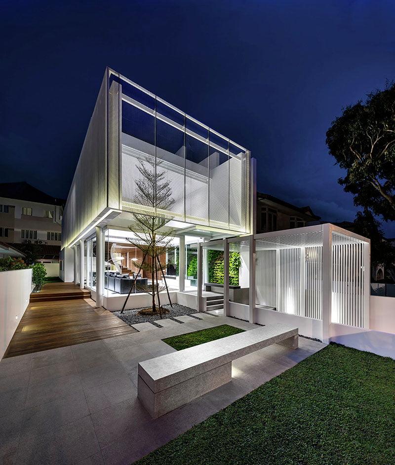 Fachada principal – Fotos: Edward Hendricks / Diseño: Park + Associates