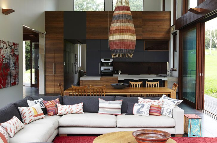 Diseño de interiores rústico de vivienda rural - Constructora Paramount