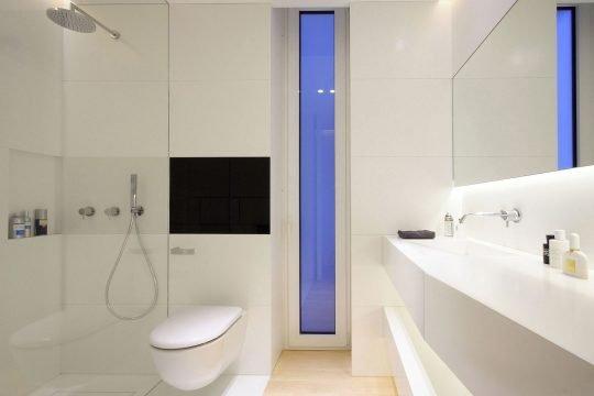 Diseño de cuarto de baño del dormitorio secundario