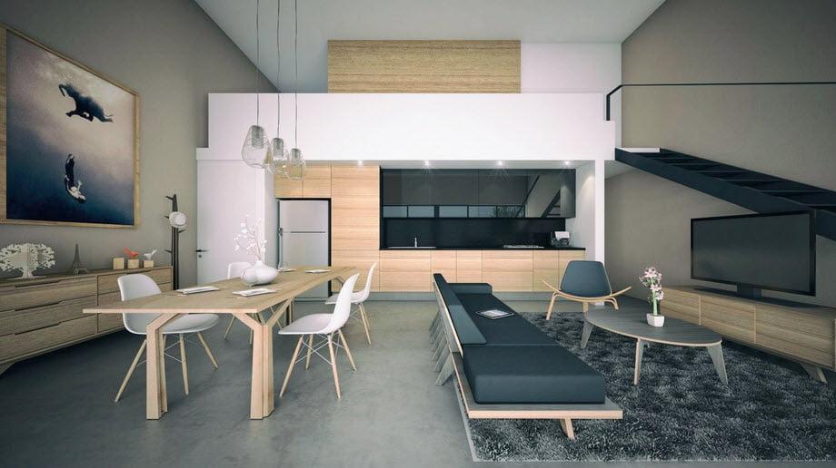Apartamento luce amplio, se han empleado recursos como minimizar el número de muros y el uso de equipamiento pequeño de acuerdo al espacio disponible (Arturo Hermenegildo)
