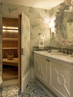 Diseño de sauna escondido en el cuarto de baño (Imagen: Imgur)