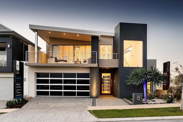Moderna fachada de casa