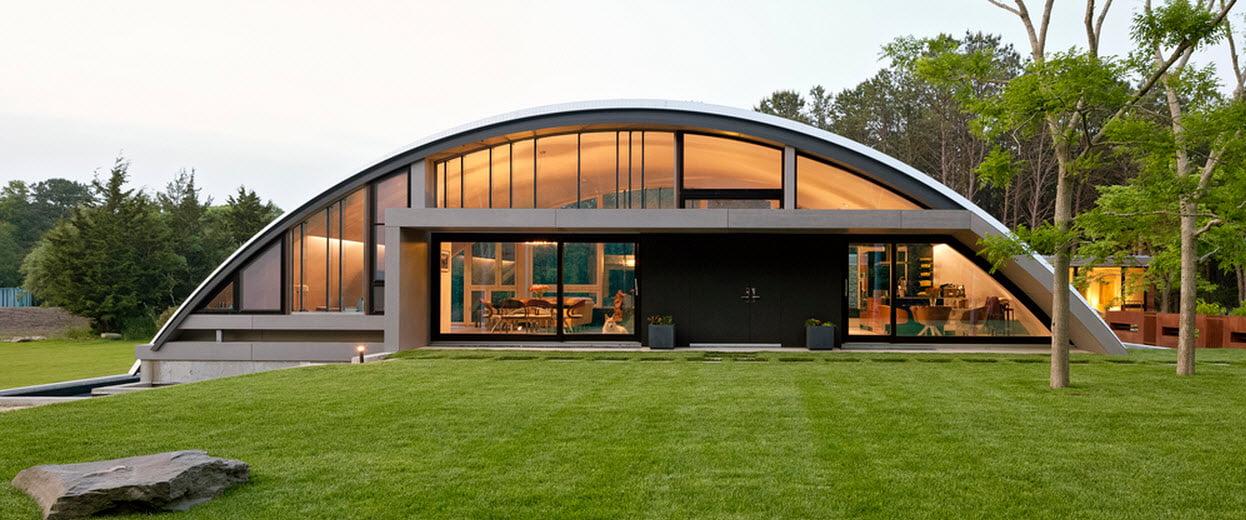 Frontis de la casa (Diseño: Maziar Behrooz Architecture)