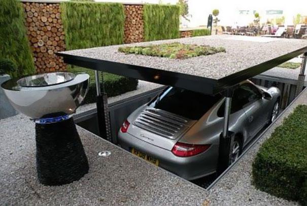 Un garage oculto en casa (Imagen: Freshadda)