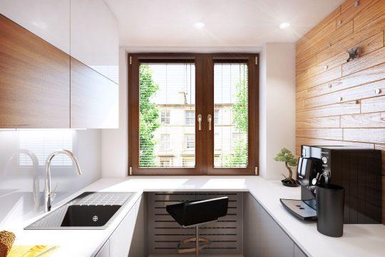 Ventana para la iluminación natural de la cocina